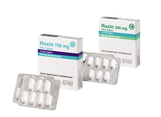 Roxin 750 mg ciprofloxacin hcl